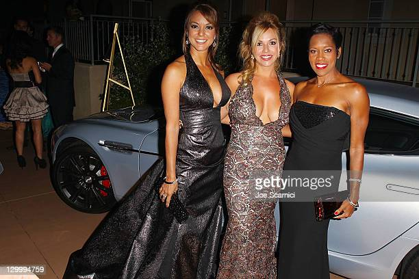 Eva La Rue Renetta Caya and Regina King arrives at Beckstrand Cancer Foundation's 8th Annual Diamond Pearl Ball at The Balboa Bay Club And Resort on...