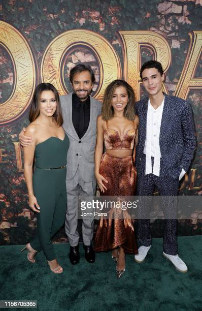 "Eva Langoria, Eugenio Derbez, Isabela Moner and Jeffrey Wahlberg arrive at Dora and the Lost City of Gold"" Miami Screening on July 19, 2019 in Miami,..."