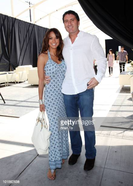 Eva LaRue and fiance Joe Cappuccio attend the ''Unveiled: Bridal Style Revealed'' collection showcase at Melrose Place on March 28, 2010 in Los...