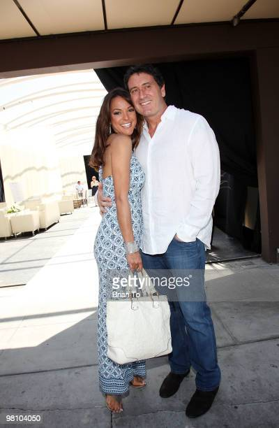 Eva LaRue and fiance Joe Cappuccio attend the ''Unveiled Bridal Style Revealed'' collection showcase at Melrose Place on March 28 2010 in Los Angeles...
