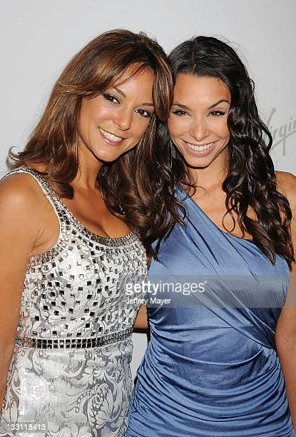 Eva LaRue and Lara LaRue arrive at the 5th Annual Rock The Kashbah at Boulevard 3 on November 16 2011 in Hollywood California
