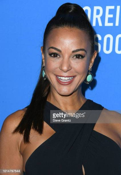 Eva LaRue arrives at the Hollywood Foreign Press Association's Grants Banquet at The Beverly Hilton Hotel on August 9 2018 in Beverly Hills California