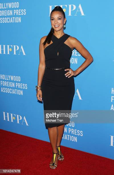 Eva LaRue attends the Hollywood Foreign Press Association's Grants Banquet held at The Beverly Hilton Hotel on August 9 2018 in Beverly Hills...