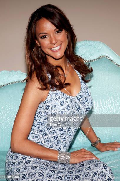 Eva LaRue attends the ''Unveiled Bridal Style Revealed'' collection showcase at Melrose Place on March 28 2010 in Los Angeles California