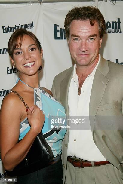 Eva LaRue Callahan with husband John Callahan at Entertainment Weekly's First Annual It List Party at Milk Studios in New York City June 24 2002...