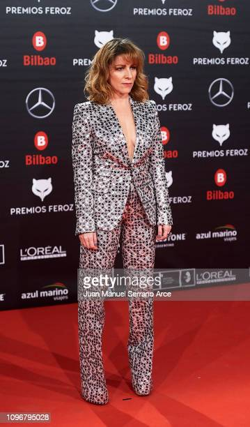 Eva Llorach attend during Feroz awards red carpet on January 19 2019 in Bilbao Spain