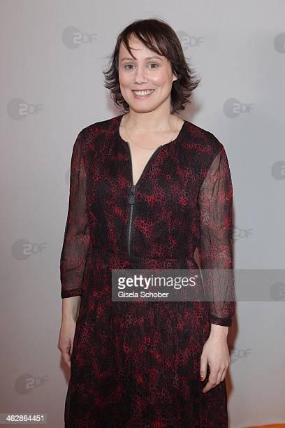 Eva Loebau attends the premiere of the film 'Der Clan Die Geschichte der Familie Wagner' at Gloria Palast on January 15 2014 in Munich Germany