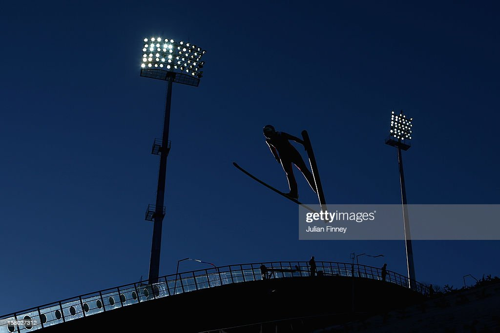 Eva Logar of Slovenia competes in a Ski Jump during the FIS Ski Jumping World Cup at the RusSki Gorki venue on December 9, 2012 in Sochi, Russia.