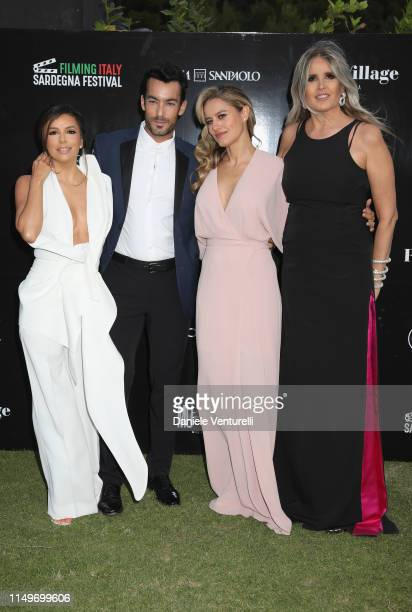 Eva Longoria Aaron Diaz Lola Ponce and Tiziana Rocca attend the Filming Italy Sardegna Festival 2019 Day 1 at Forte Village Resort on June 13 2019 in...