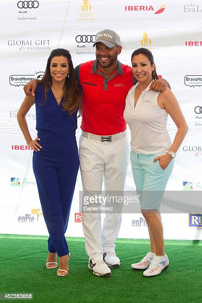 Eva Longoria Amaury Nolasco and Maria Bravo attend the Global Gift Celebrity Golf Tournament to help raise money for The Eva Longoria Foundation and...