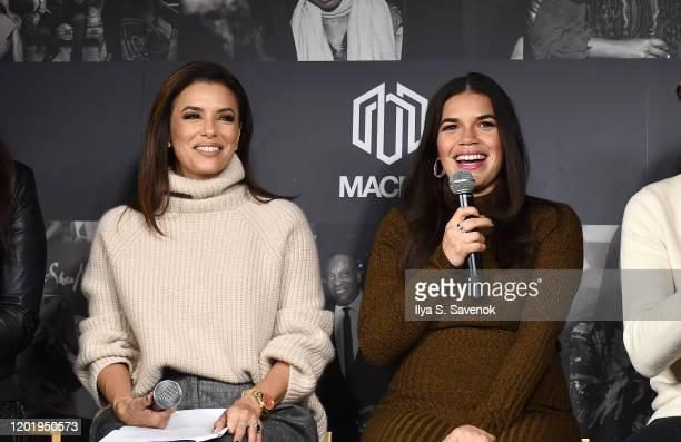 Eva Longoria and America Ferrera speak during MACRO Lodge Presents Netflix GENTEFIED Panel With Eva Longoria on January 25, 2020 in Park City, Utah.