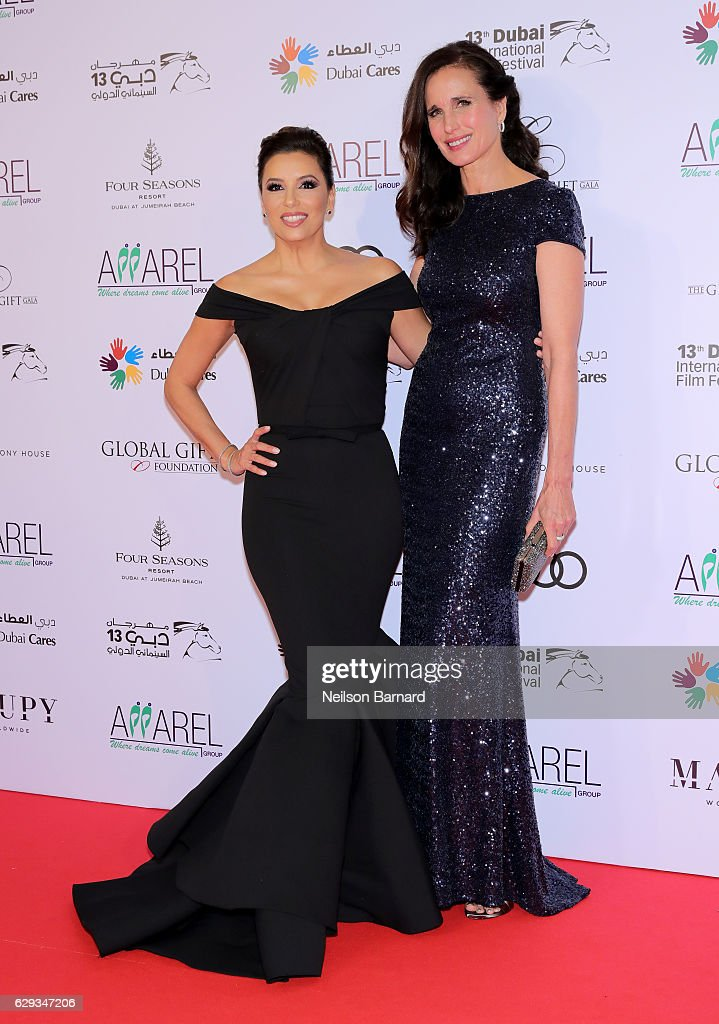 8d59e673f95 Eva Longoria and Andie MacDowell attend the Global Gift Gala during ...