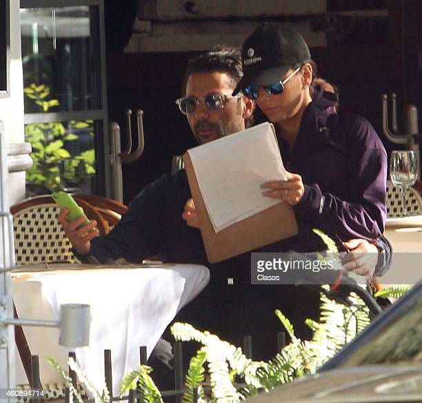 Eva Longoria and Antonio Baston are seen on December 29 2014 in Mexico City Mexico