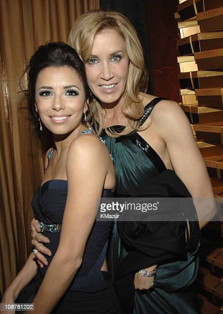 Eva Longoria and Felicity Huffman during In Style and Warner Bros. 2007 Golden Globe After Party - Inside at Beverly Hilton Hotel in Beverly Hills,...