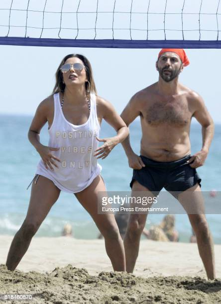 Eva Longoria and her husband Pepe Baston have been on July 18 2017 in Marbella Spain