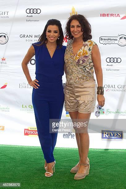 Eva Longoria and Isabel Gemio attend the Global Gift Celebrity Golf Tournament to help raise money for The Eva Longoria Foundation and The Bertin...