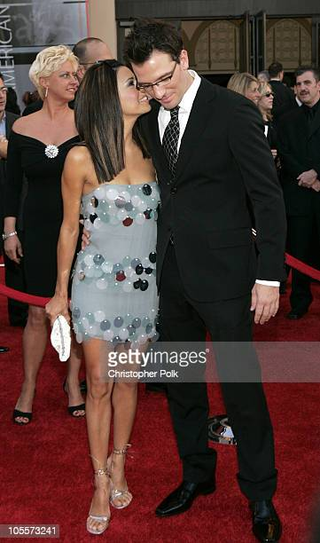 Eva Longoria and JC Chasez during 32nd Annual American Music Awards Arrivals at Shrine Auditorium in Los Angeles California United States