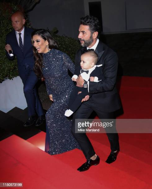 Eva Longoria and José Bastón attend the The Global Gift Initiative event during the 72nd annual Cannes Film Festival on May 20 2019 in Cannes France