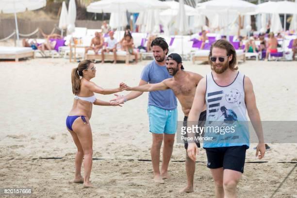 Eva Longoria and Jose Baston are seen at Global Gift Gala Party at At Hard Rock Hotel Ibiza on July 21 2017 in Ibiza Spain