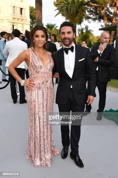 Eva Longoria and Jose Baston attend the amfAR Gala Cannes 2017 at Hotel du CapEdenRoc on May 25 2017 in Cap d'Antibes France
