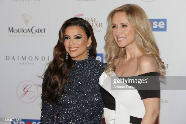 Eva Longoria and Lara Fabian attend the The Global Gift Initiative event during the 72nd annual Cannes Film Festival on May 20 2019 in Cannes France