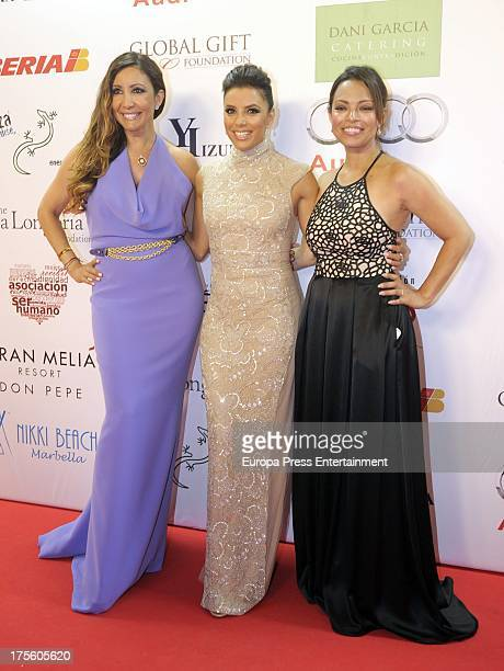 Eva Longoria and Maria Bravo attend Global Gift Gala 2013 at Gran Melia Don Pepe Hotel on August 4 2013 in Marbella Spain