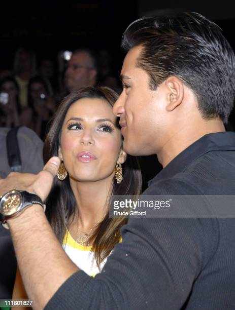 Eva Longoria and Mario Lopez during Jessica Simpson Dolls Up to Celebrate 2nd Anniversary of the Pussycat Dolls Lounge at Pure Nightclub in Las Vegas...