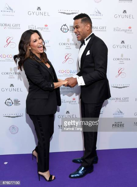Eva Longoria and Maxwell attend The Global Gift gala held at the Corinthia Hotel on November 18 2017 in London England