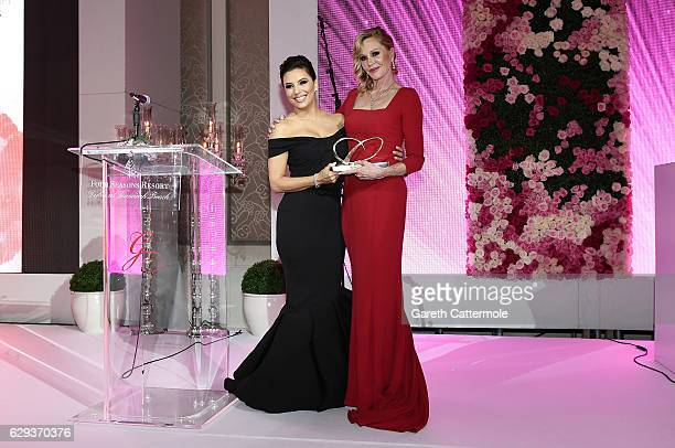 Eva Longoria and Melanie Griffith during the Global Gift Gala on day six of the 13th annual Dubai International Film Festival held at the Four...