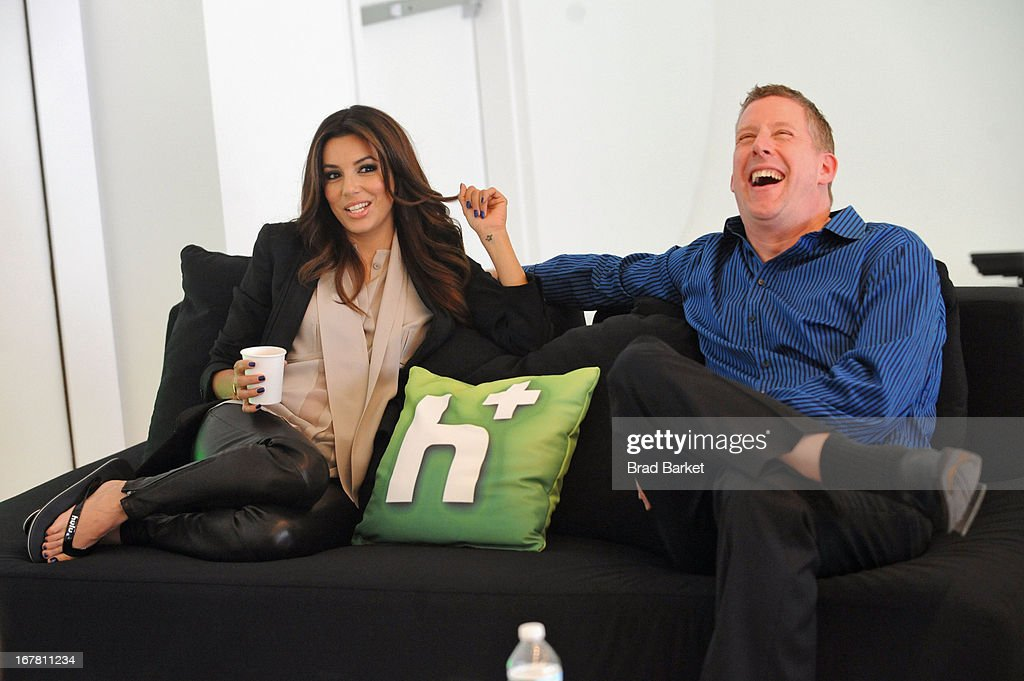 Eva Longoria and Michael Shipley attend Hulu NY Press Junket on April 30, 2013 in New York City.