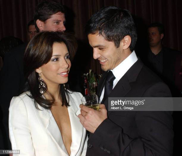 Eva Longoria and Nicholas Gonzales during 34th Annual Nosotros Golden Eagle Awards Cocktail Reception at Beverly Hilton Hotel in Beverly Hills CA...