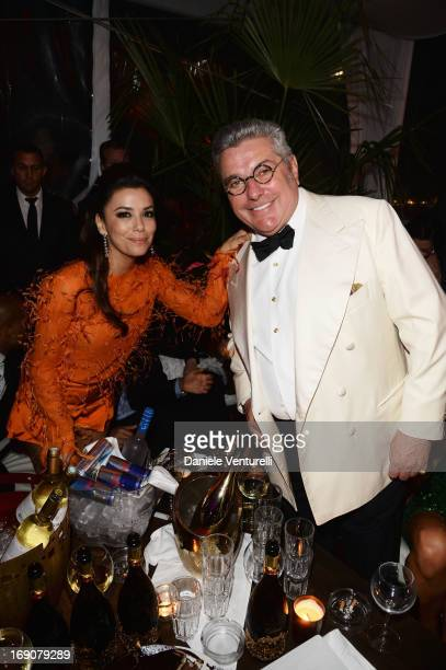 Eva Longoria and Nunzio Alfredo D'Angieri attend the Eva Longoria Global Gift Gala after party hosted by Nikki Beach Cannes during The 66th Annual...
