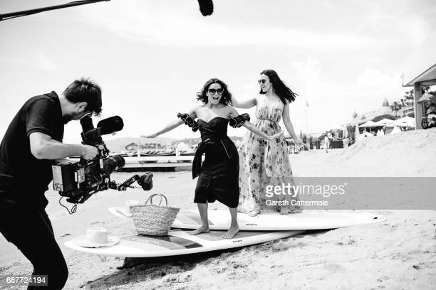 Eva Longoria and Patry Jordan are photographed at the L'Oreal paris beach on May 23 2017 in Cannes France