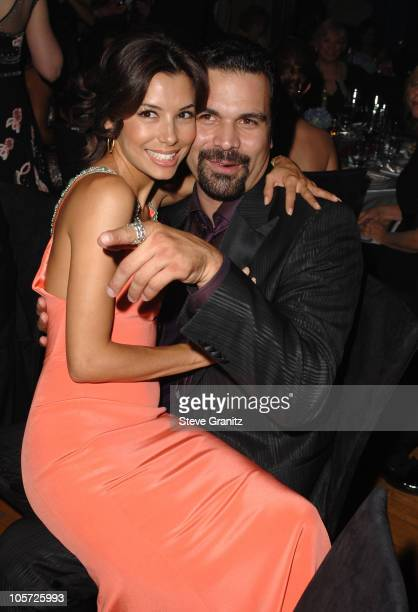 Eva Longoria and Ricardo Chavira during The 57th Annual Emmy Awards Governors Ball at Shrine Auditorium in Los Angeles California United States