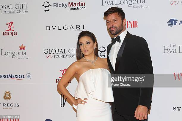 Eva Longoria and Ricky Martin attend the Global Gift Gala Mexico City at Torre Virrelles on November 12, 2016 in Mexico City, Mexico.