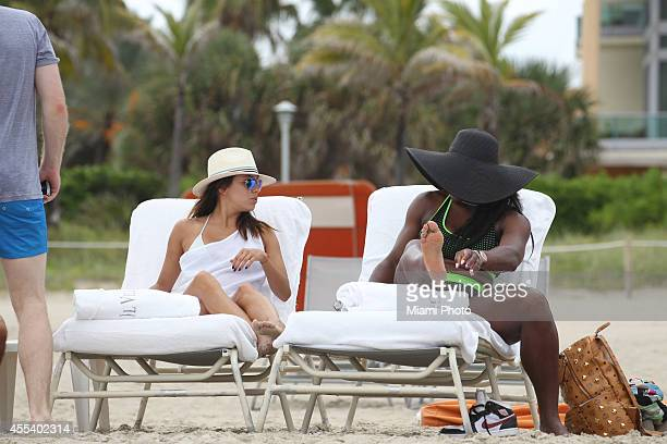 Eva Longoria and Serena Williams are seen on September 13 2014 in Miami Florida