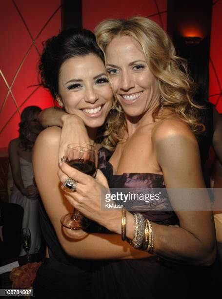 Eva Longoria and Sheryl Crow during In Style and Warner Bros. 2007 Golden Globe After Party - Inside at Beverly Hilton Hotel in Beverly Hills,...
