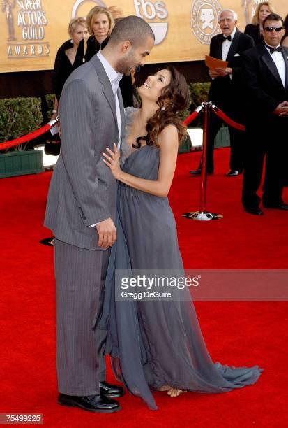 Eva Longoria and Tony Parker at the Shrine Auditorium in Los Angeles California