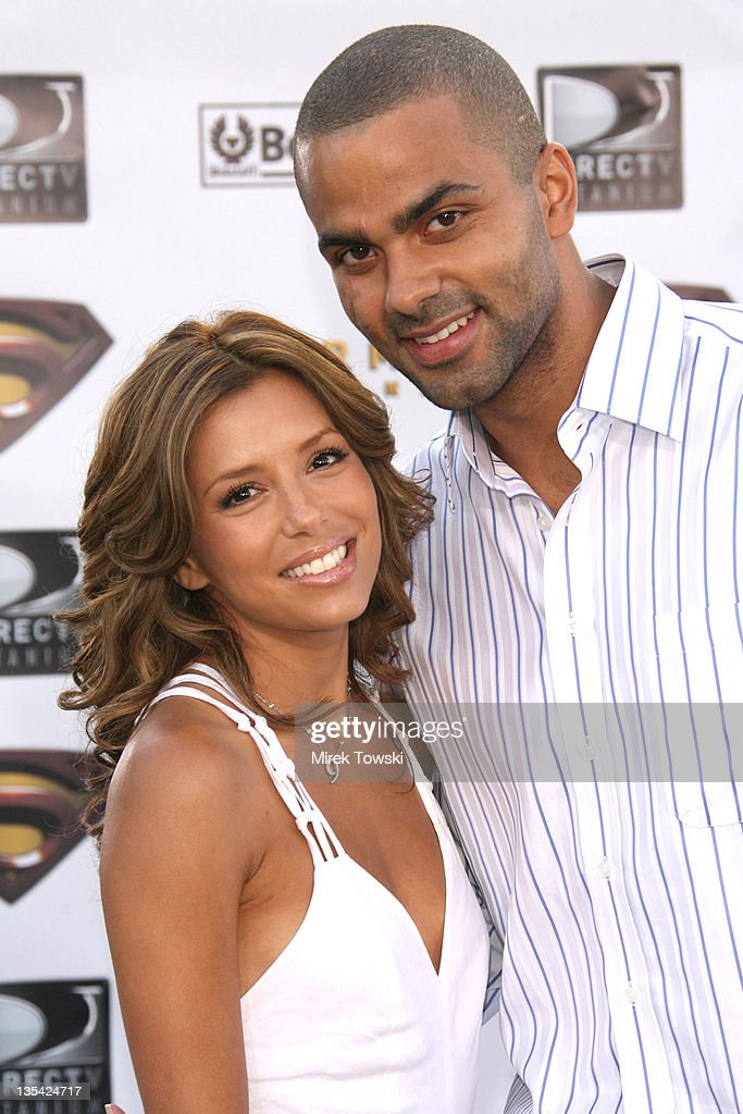 Eva Longoria and Tony Parker during 'Superman Returns' Los Angeles Premiere at Mann Village and Bruin Theaters in Westwood, California, United States.