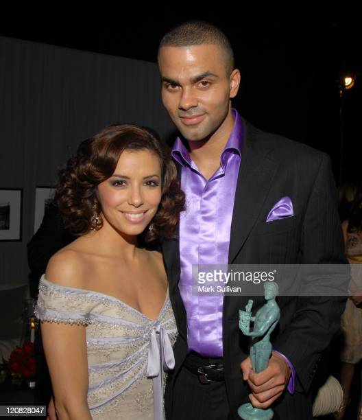 Eva Longoria and Tony Parker in Backstage Creations Talent Retreat