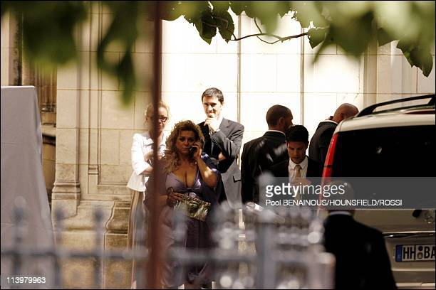 Eva Longoria and Tony Parker's wedding ceremony at the St Germain l'Auxerrois Chruch In Paris France On July 07 2007Wedding ceremony of Eva Longoria...