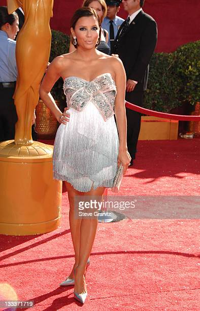 Eva Longoria arrives at the 60th Primetime Emmy Awards at the Nokia Theater on September 21 2008 in Los Angeles California