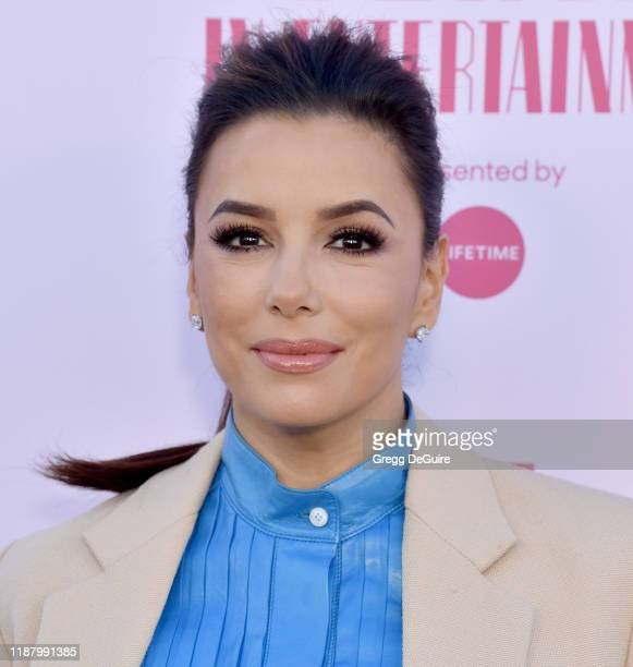 Eva Longoria arrives at The Hollywood Reporter's Annual Women in Entertainment Breakfast Gala at Milk Studios on December 11, 2019 in Hollywood,...