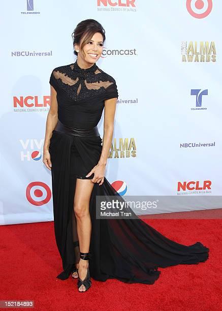 Eva Longoria arrives at the NCLR 2012 ALMA Awards held at Pasadena Civic Auditorium on September 16 2012 in Pasadena California