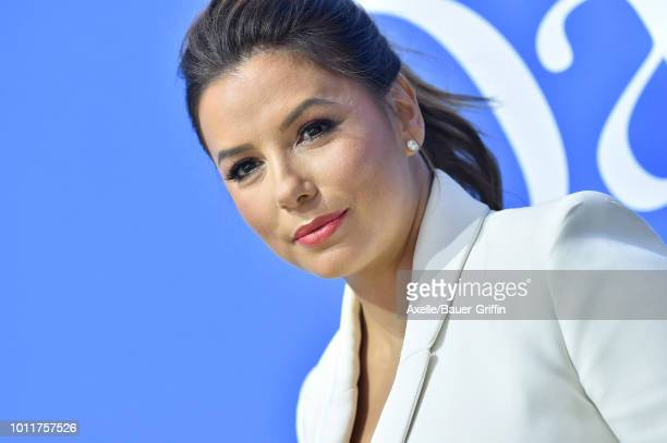 Eva Longoria arrives at the premiere of LD Entertainment's 'Dog Days' at Westfield Century City on August 5 2018 in Century City California