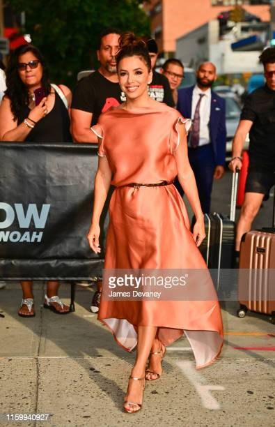 Eva Longoria arrives to the 'The Daily Show With Trevor Noah' on August 5 2019 in New York City