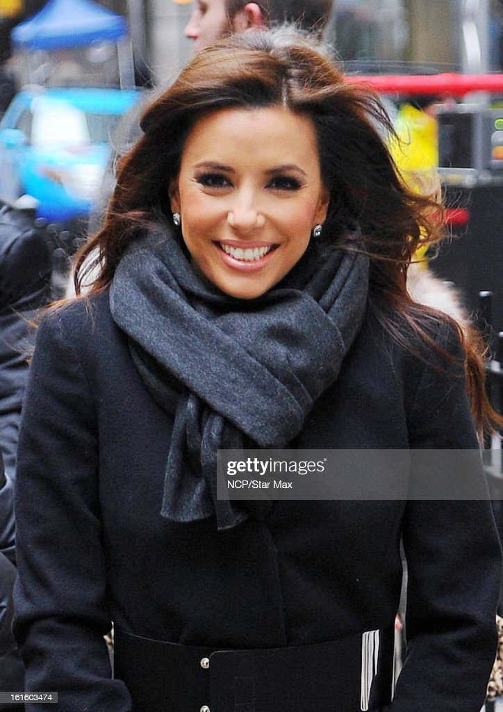 Eva Longoria as seen on February 12, 2013 in New York City.