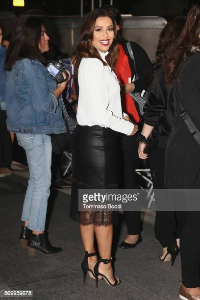 Eva Longoria attends a ceremony honoring Selena Quintanilla with a star on The Hollywood Walk Of Fame on November 3 2017 in Hollywood California