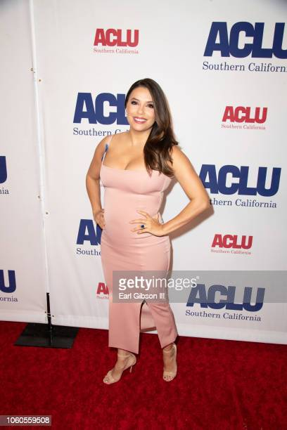 Eva Longoria attends ACLU's Annual Bill Of Rights Dinner at the Beverly Wilshire Four Seasons Hotel on November 11 2018 in Beverly Hills California