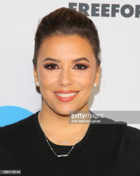 Eva Longoria attends Disney ABC Television Hosts TCA Winter Press Tour 2019 on February 05 2019 in Pasadena California